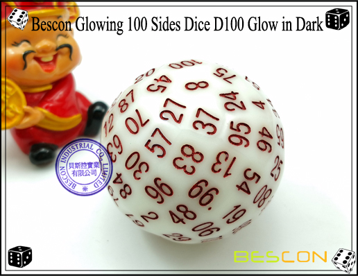 Bescon Glowing 100 Sides Dice D100 Glow in Dark-2