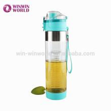 Nueva botella de agua potable plástica libre de Arrivel BPA con el infuser