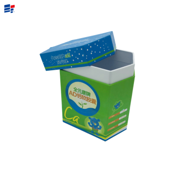 Color irregular shape snack paper box
