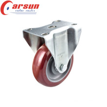 4inches Middle Duty Rigid Caster with PU Wheel