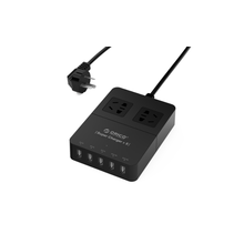 ORICO HPC-2A5U 2 Steckdose Surge Protector 5 Port Desktop USB Ladegerät mit Smart Ladetechnik