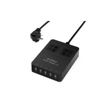ORICO HPC-2A5U 2 salida Protector contra sobretensiones cargador USB de escritorio de 5 puertos con tecnología de carga inteligente