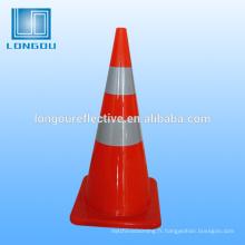 fournisseurs de porcelaine trafic cône ruban réfléchissant pour la sécurité routière