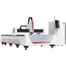 High Speed Metal Tube Fiber Laser Cutting Machine Auto Focus Raytools Metal 1500 Watt Fiber Laser Cutter