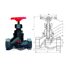 globe valve cast iron screw end for Russian control valve drawing water globe valve price standard safet steam pipeline