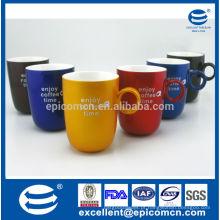 Novo copo de café da porcelana do osso para beber / promoção / matrket / loja / loja / presente copo de café colorido vitrificado