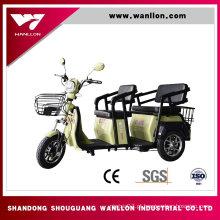 Trotinette 650W, triciclo elétrico da carga, bicicleta da sujeira