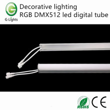 Decorative lighting RGB DMX512 led digital tube
