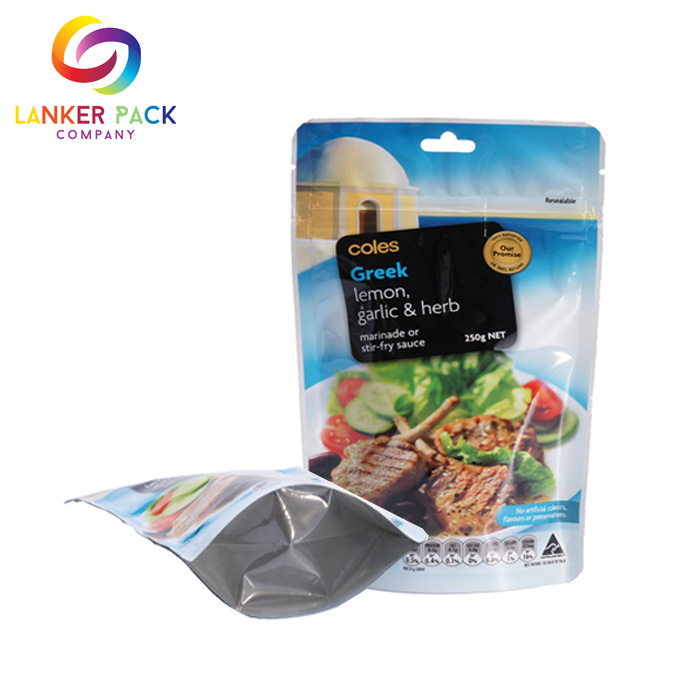 Food Grade Ziplock Plastic Custom Snack Food Stand Up Bag