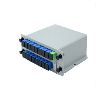 1x4 1x8 1x16 PLC Jenis Optik Fiber Splitter Box