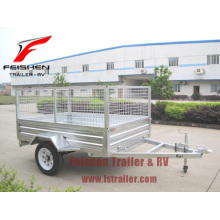 Hot dip galvanized Cage trailer