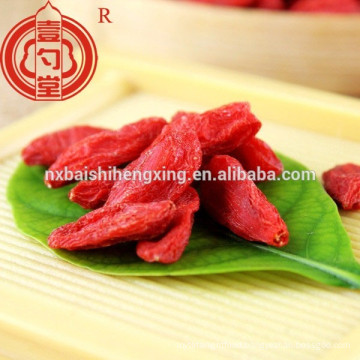 China certified organic goji berry in dried fruit use for goji berry powder