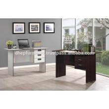 Table de bureau en bois avec tiroir et serrure