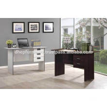 Wooden Office Table with Drawer and Lock