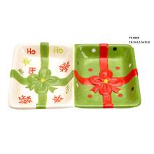 Plats de bonbons et noix de céramique pour Noël