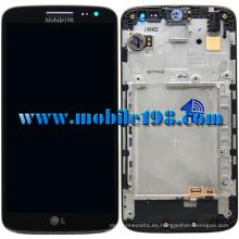 para LG G2 Mini D620 Pantalla LCD con digitalizador con carcasa frontal