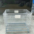 Galvaniserad Folding Wire Mesh Container / Wire Storage Basket