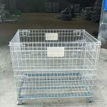 Contenedor de malla de alambre plegable galvanizado / cesta de almacenamiento de alambre