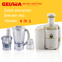 Geuwa 1.8L Plastic 4 In1 Juicer pour usage domestique
