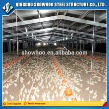Grange de volaille en acier préfabriqué à faible coût en poulet
