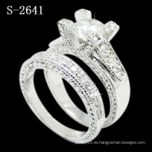 Joyería de plata del anillo de la zirconia de la combinación 925 (S-2641. JPG)
