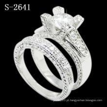 Jóia do anel da zircônia da combinação 925 de prata (S-2641. JPG)
