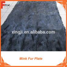 Plaque de fourrure de vison de golf de couleur noire