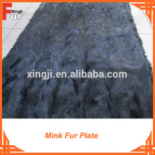 Black Color Golf Mink Fur Plate