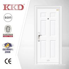 White Powder Coating Anti Theft Iron Door KKD-531A for Uzbekistan