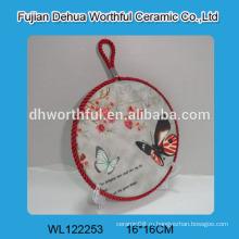 Современная дизайнерская керамическая подкладка с рисунком бабочки для оптовой продажи