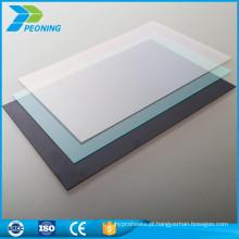 100% material virgem bayer painel de materiais de cobertura de plástico transparente leve
