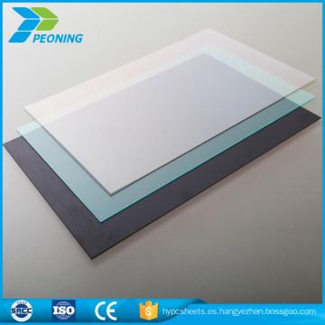 Material 100% virgen bayer material material de techo de plástico transparente transparente panel