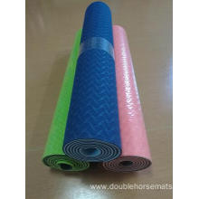 TPE material double color yoga mat