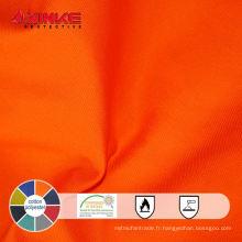 EN 1149-3 ignifuge 80 coton 20 polyester tissu anti statique utilisé dans le pétrole
