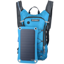 High quality chargeable polyester solar day backpack