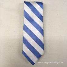 Votre propre marque faite à la main en soie italienne signature Solid Stripe Neck Cravates pour les hommes