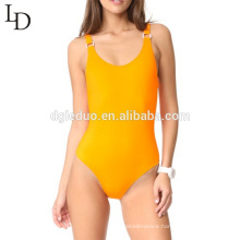 high quality Womens Spandex backless one piece swimsuit