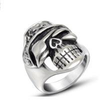 Старинные панк кости черепа мужская кольцо ювелирных изделий нержавеющей стали