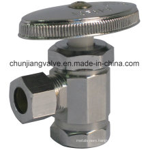 Chromed Brass Stop Angle Valve with Iron Pipe Inlet (J01)
