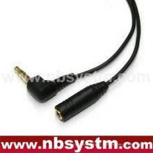 Prise stéréo 3,5 mm à 3,5 mm stéréo jack câble or