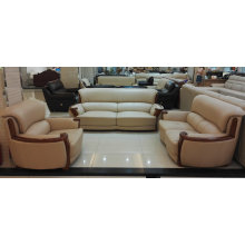Деревянные, кожаный диван, сочетание диван, Китай софа (A59)