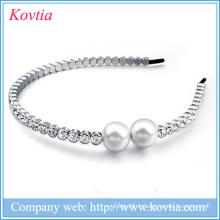 Cheveux en strass arcs accessoires de cheveux en gros fabriqués en corée femmes perles cheveux arcs