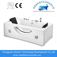 China for Square jacuzzi Bathtub Water and jet combined freestanding jacuzzi tub export to Poland Exporter