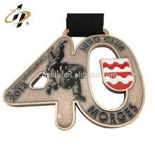 Medallas a granel del metal del judo del esmalte de la aleación del cinc de los artículos a granel medallas