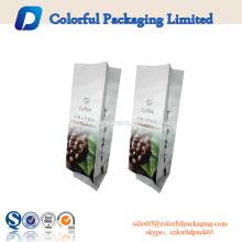 Stand Up Pouch Aluminiumfolie Kaffee Verpackungsbeutel mit Reißverschluss und Ventil