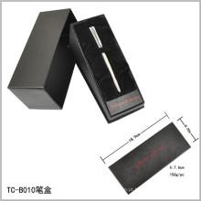 Caixa de abertura interna de veludo em forma de triângulo e conjunto de caneta de inclinação Caixa de papel