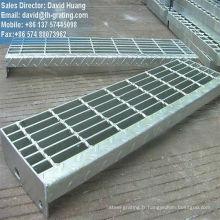 Galvanisé girons d'escalier métallique, escalier en acier marches d'escabeau