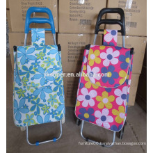 Fashion vegetable shopping trolley bag/shopping cart bag/shopping bag with wheels