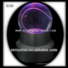 K9 Laser Etched Crystal Ball with LED Base Colorful