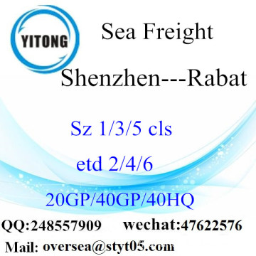 Shenzhen Port Sea Freight Shipping To Rabat